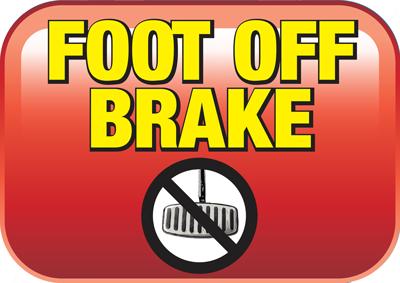 Foot off break